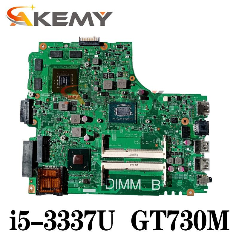 Akemy لأجهزة الكمبيوتر المحمول Dell Inspiron 3421 5421 اللوحة الرئيسية 12204-1 DNE40-CR 5J8Y4 ث/i5-3337U GT730M 2GB 100% اختبارها