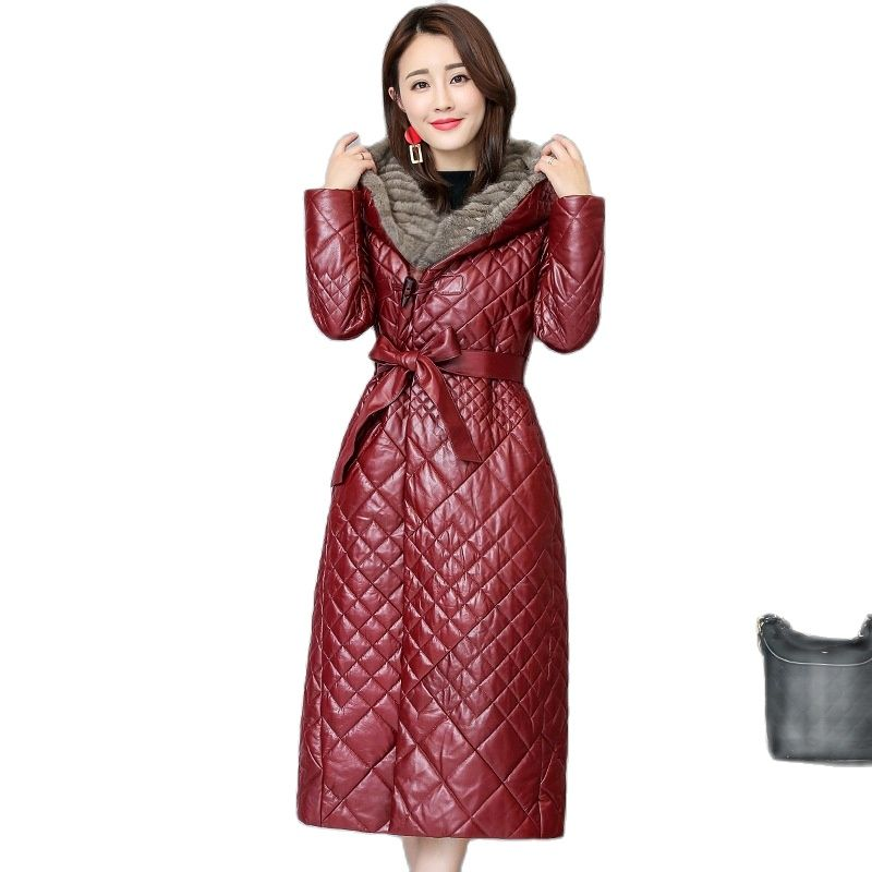 2021new women's Thickened sheepskin plus size cotton coat women's jackets women leather jacket winter coats slim learher coats