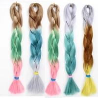 dream ices jumbo braids hair synthetic ombre braiding hair extension 1piecelot crochet expression
