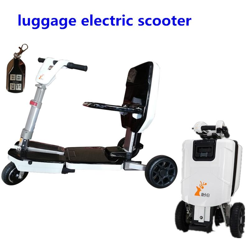 Movilidad, patinete de equipaje eléctrico ultraligera, niño gordo, plegable, para personas mayores