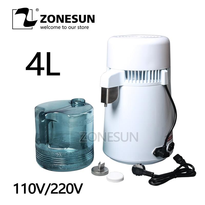 ZONESUN SF-DE-D54 المقطر حلالة مائية المياه الفولاذ المقاوم للصدأ المنزلية تقطير