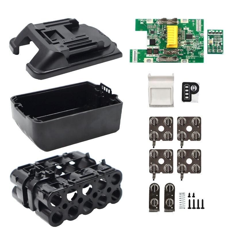 BL1830 بطارية ليثيوم أيون شحن حماية لوحة دوائر كهربائية صندوق PCB لماكيتا 18 فولت 3.0Ah 6.0Ah LED مؤشر البطارية BL1860 BMS