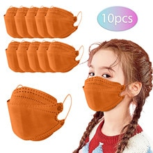 10/50PC Kids Face Mask For Protection 5Ply Solid Color Child Baby Girls Reusable Pm2.5 Dustproof Mouth Mask VIP Decoration