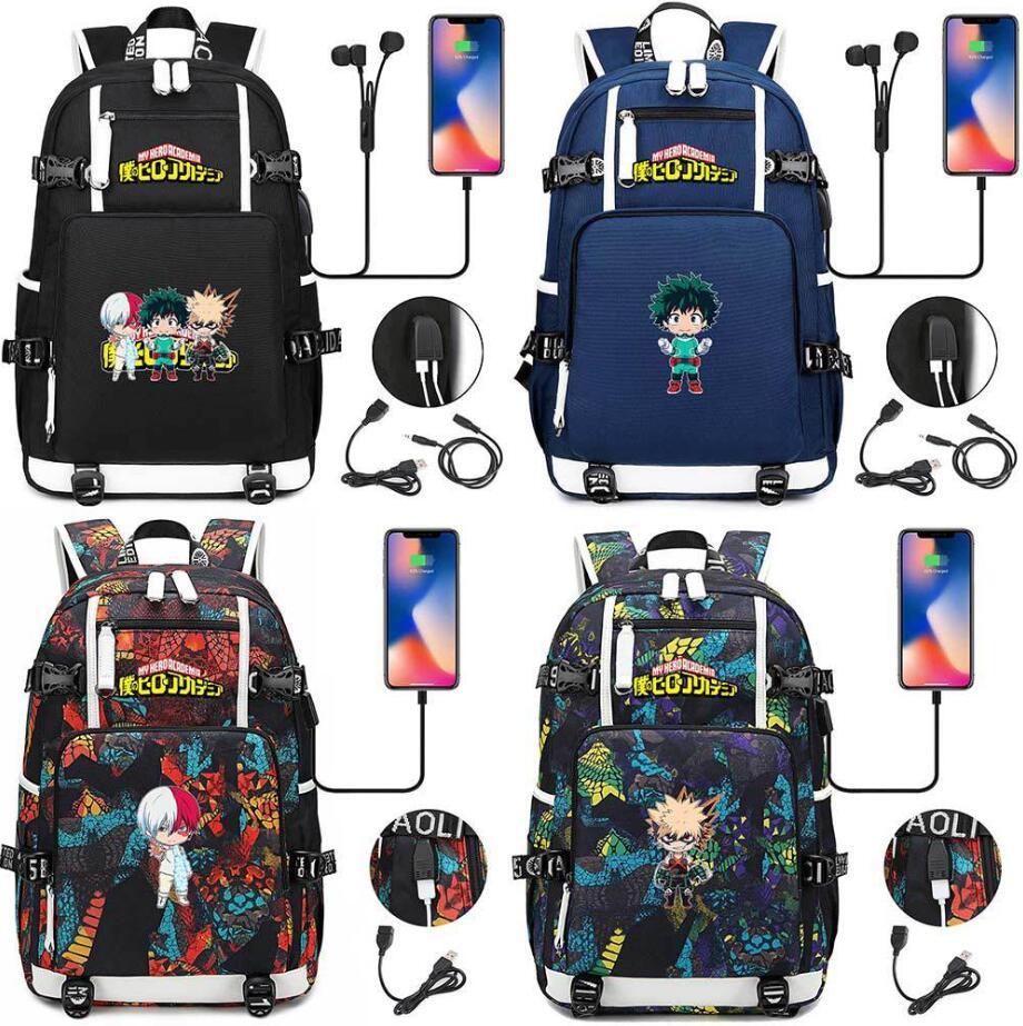 Mi héroe Academia bolsa bakugou katsuki Izuku Midoriya Anime hombre estudiante mochila bolsa de viaje portátil bolsos de hombro