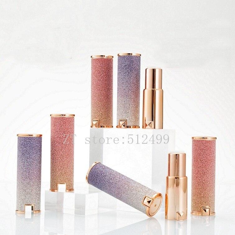 12,1mm 10/30/50pcs Leere Rose Gold/Gradienten Lila Glänzende Runde Lippenstift Rohr, lip Balm Container, Kosmetik Nachfüllbar Verpackung
