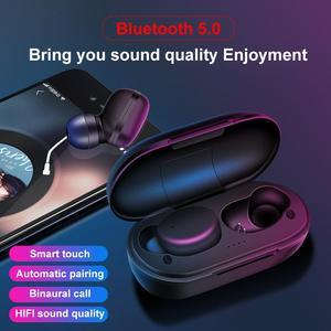 Bluetooth 5.0 Ergonomic Design Earphones A6x Wireless Bluetooth Headset Bluetooth Headset With Portable Charging Case