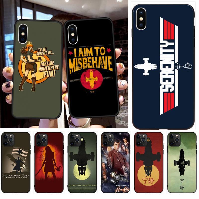 Diseño luciérnaga cartel de programa de tv funda de teléfono para iPhone 11 pro XS MAX 8 7 6 6S Plus X 5S SE 2020 XR funda