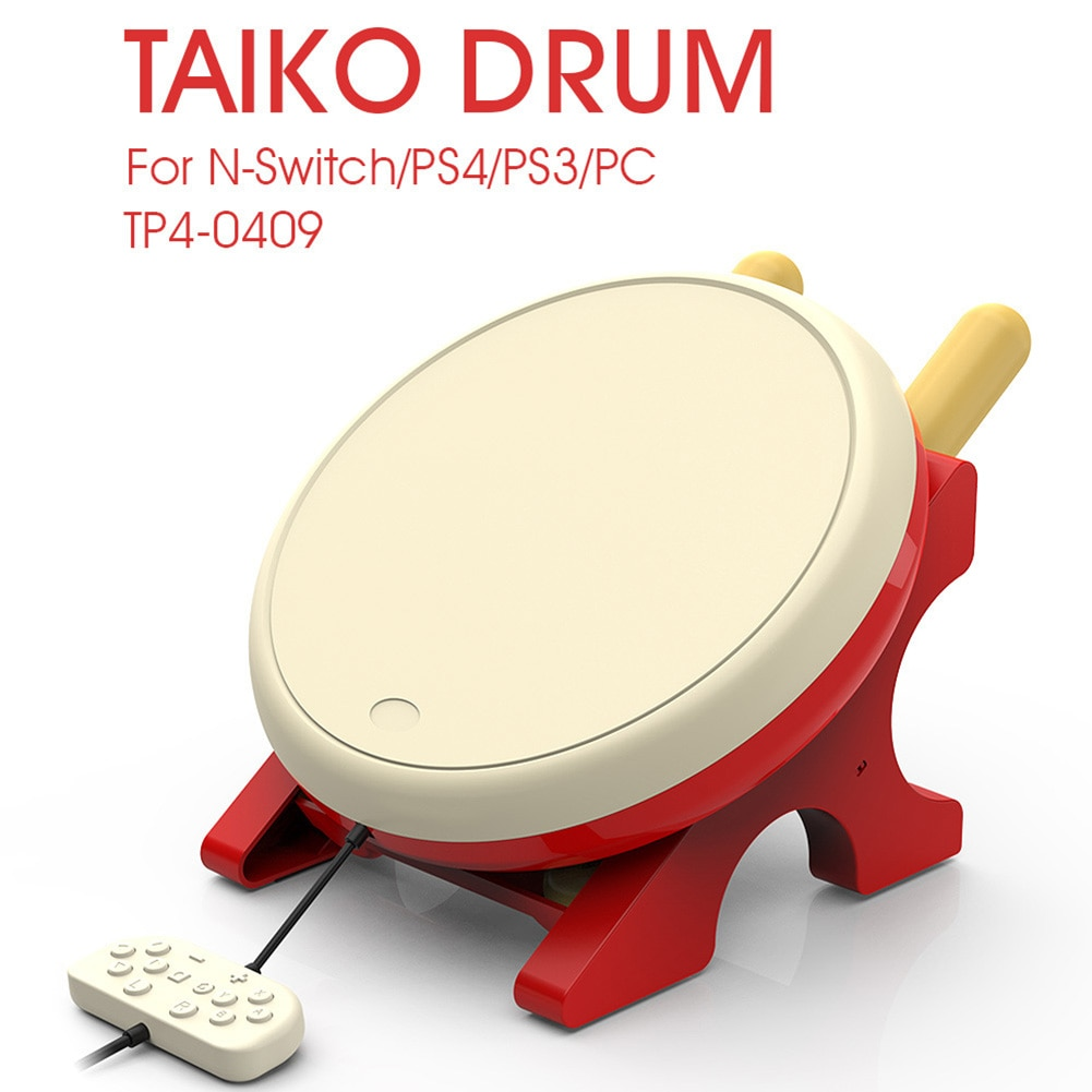 4 in 1 Taiko Drum Accessory Video Game Player Controller Assitant Console for Sony PS4/PS3/Nintendo
