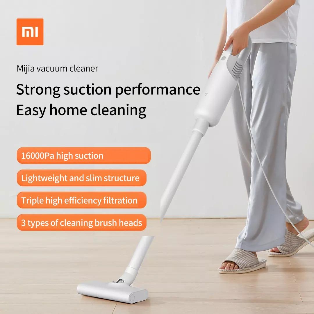 Xiaomi Mijia-مكنسة كهربائية منزلية محمولة عالية الطاقة ، آلة تنظيف صغيرة سلكية ، شفط عالي