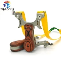 professional hunting slingshot high quality stainless steel catapult with flat rubber band outdoor shooting game sling shot set