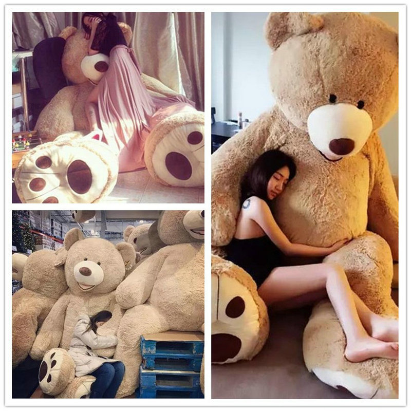 100-200cm 3.4m America Giant Teddy Bear Plush Toys Soft Teddy Bear Skin Popular Birthday Valentine's Gifts For Girls Kid's Toy