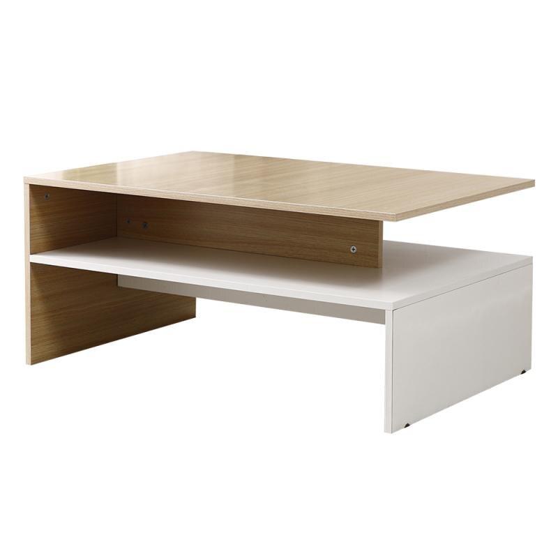 الخشب طاولة شاي الحد الأدنى نمط مقهى الجداول هندسية الصلبة الحديثة طاولة القهوة لغرفة المعيشة بسيطة مكتب صغير HWC