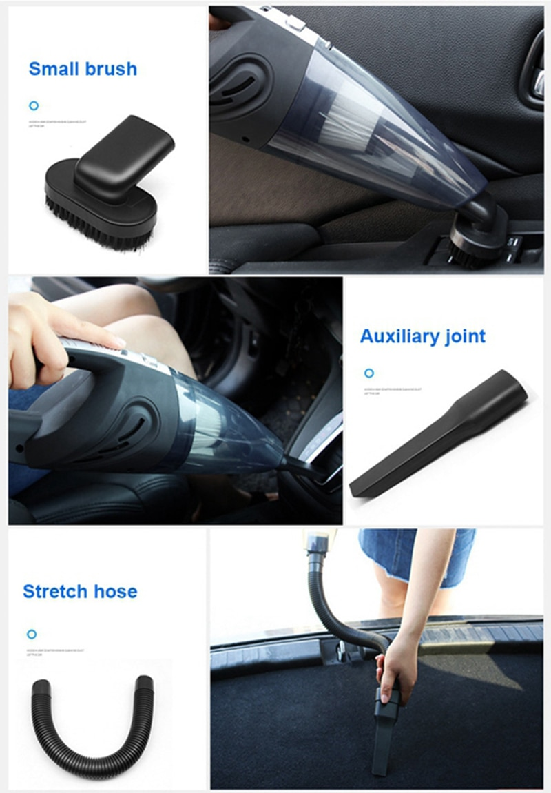 Handheld Vacuum Cordless Powerful Cyclone Suction Portable Rechargeable Vacuum Cleaner 6053 Quick Charge for Car Home Pet Hair enlarge