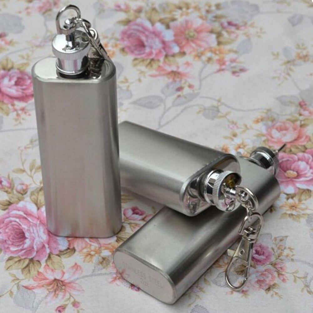 Venda quente 2oz mini garrafa de aço inoxidável hip álcool flagon com chaveiro # nn25