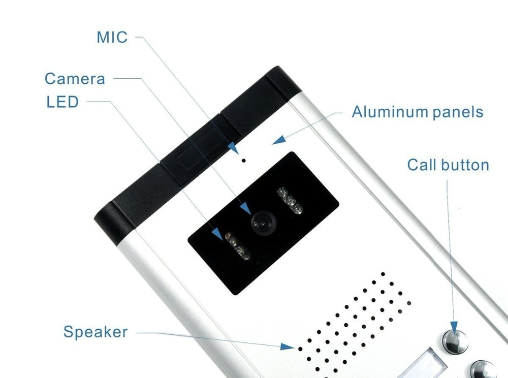 2/3/4 Units Apartment Video Door Phone Intercom System Video doorbell Kit for 2-4 Apartments house 1 Camera 2-4 Monitor enlarge
