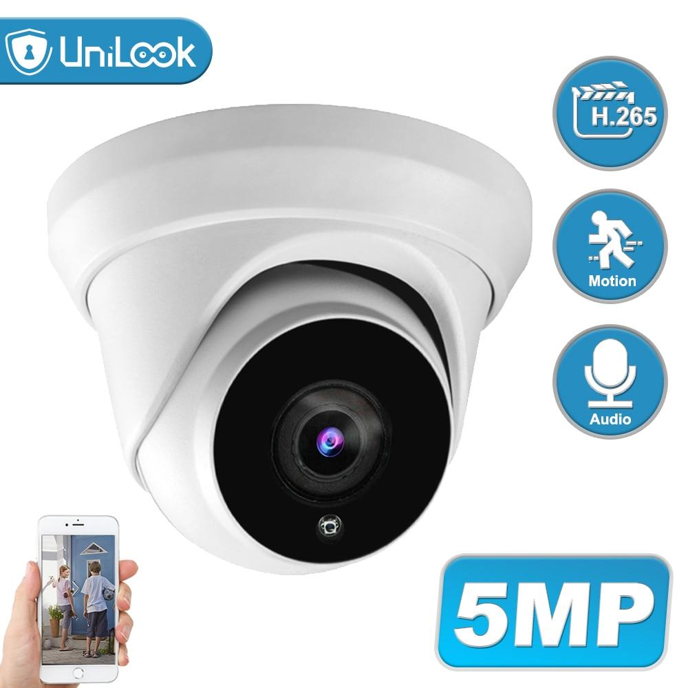 Unicook-كاميرا مراقبة 5MP ، برج POE IP ، مع ميكروفون مدمج ، CCTV ، Hikvision ، متوافق مع ONVIF IP66 IR ، 30m H.265
