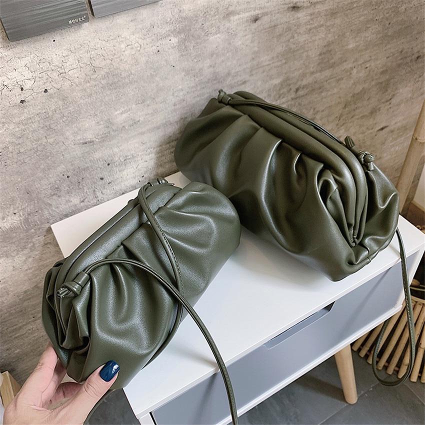TOYOOSKY Women Simple Dumplings Messenger Bag Designer Retro 2020 New Fashion Cloud Female Crossbody Bag Tide Handbag Clutch Bag