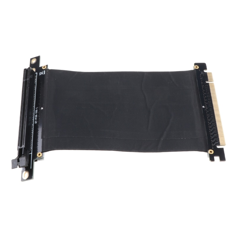 PCI Express PCI-e3.0 16x Flexible Cable Card Extension Port Adapter High Speed Riser Card - Right Angled