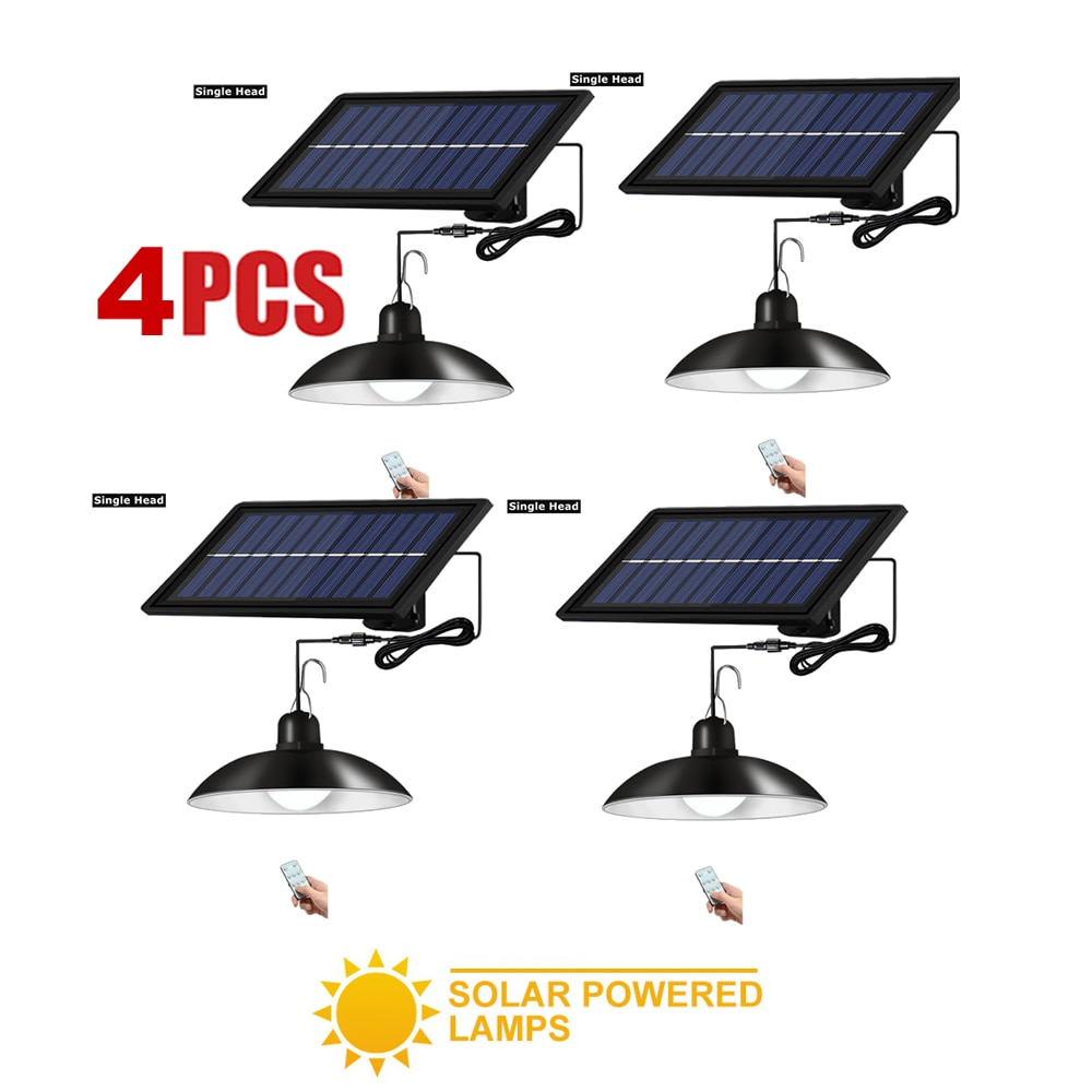 4 قطعة ريترو عاكس الضوء الشمسية ثريّا متدلية الشمسية في الهواء الطلق الجدار مصباح الإضاءة مقاوم للماء الجسم الطوارئ ليلة حديقة مسار Br