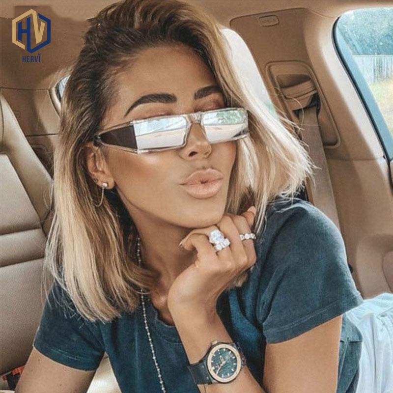 Retro Mirror Sunglasses Fashion Leopard Rectangular Glasses Women Sun Glasses Trend Street Beat  UV Protection