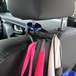 Carro veículo encosto de cabeça montagem gancho duplo assento volta telefone titular bolsa cabide