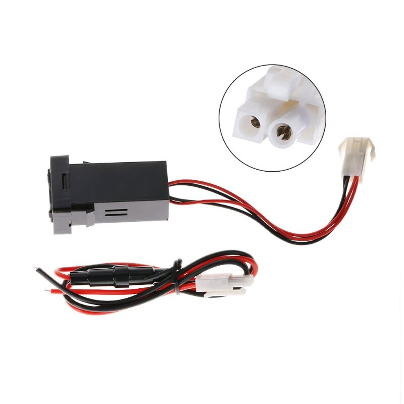 car dual usb charger audio port interface led light for toyota prado 120 series toyota hilux vigo 12V 4.2A Dual USB 2 Port Car Charger Socket Lighter Adapter for toyota Corolla A0NE