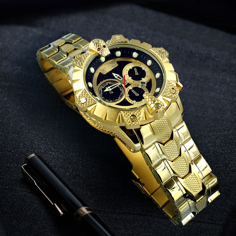 2021 new mens high-end quartz in brand watch AAA high-quality stainless steel chronograph sports