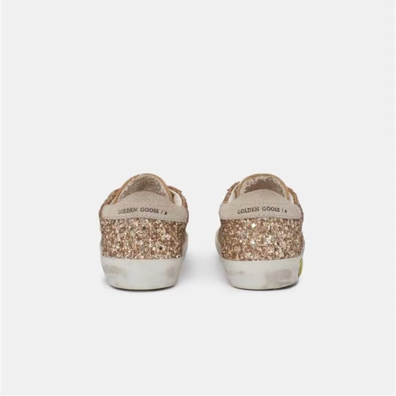 Children's 2021 Spring  New Products Gold Sequins Retro Dirty Non-slip Shoes for Boys and Girls Casual  Velcro Sneakers CS207 enlarge