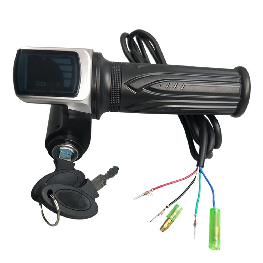36V 48V 60V Electric Scoote Speed Controller Handlebar Electric Bicycle Scooter Motor With LCD Display Power Indicator