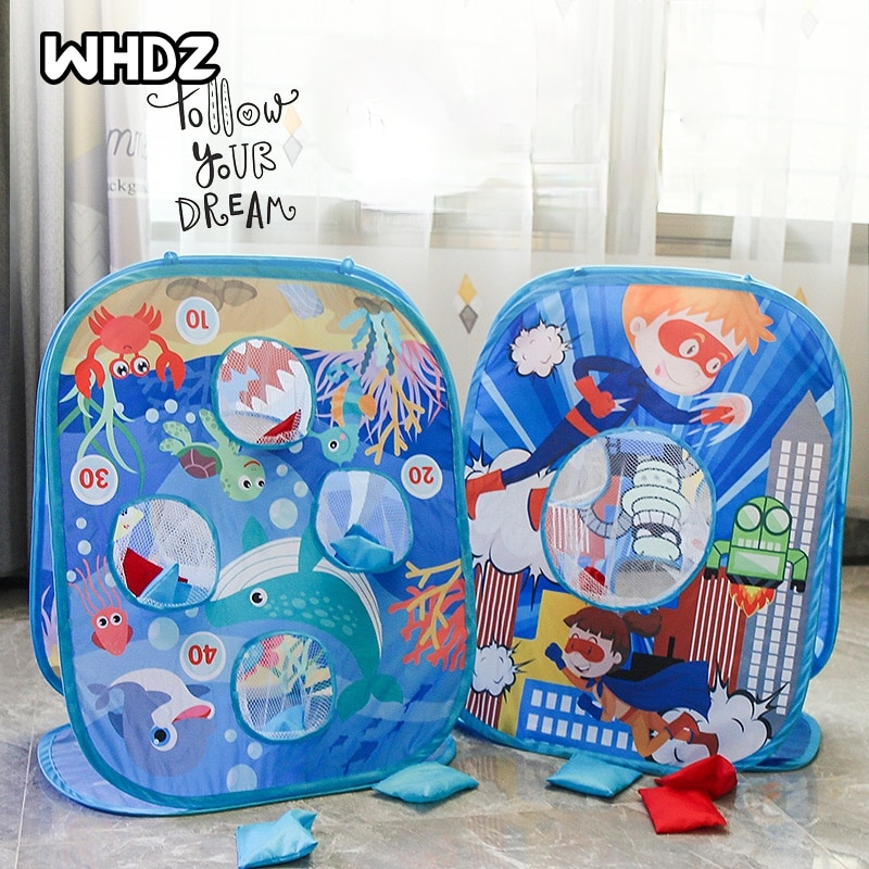 Фото - Children Throwing Sandbags Game Toys Parent-child Interaction Creative Outdoor Sandbags Game Toys for Children Gifts 2021 novelty kids bean bag toss game toys outdoor dart board game game toy set fun parent child interaction educational game
