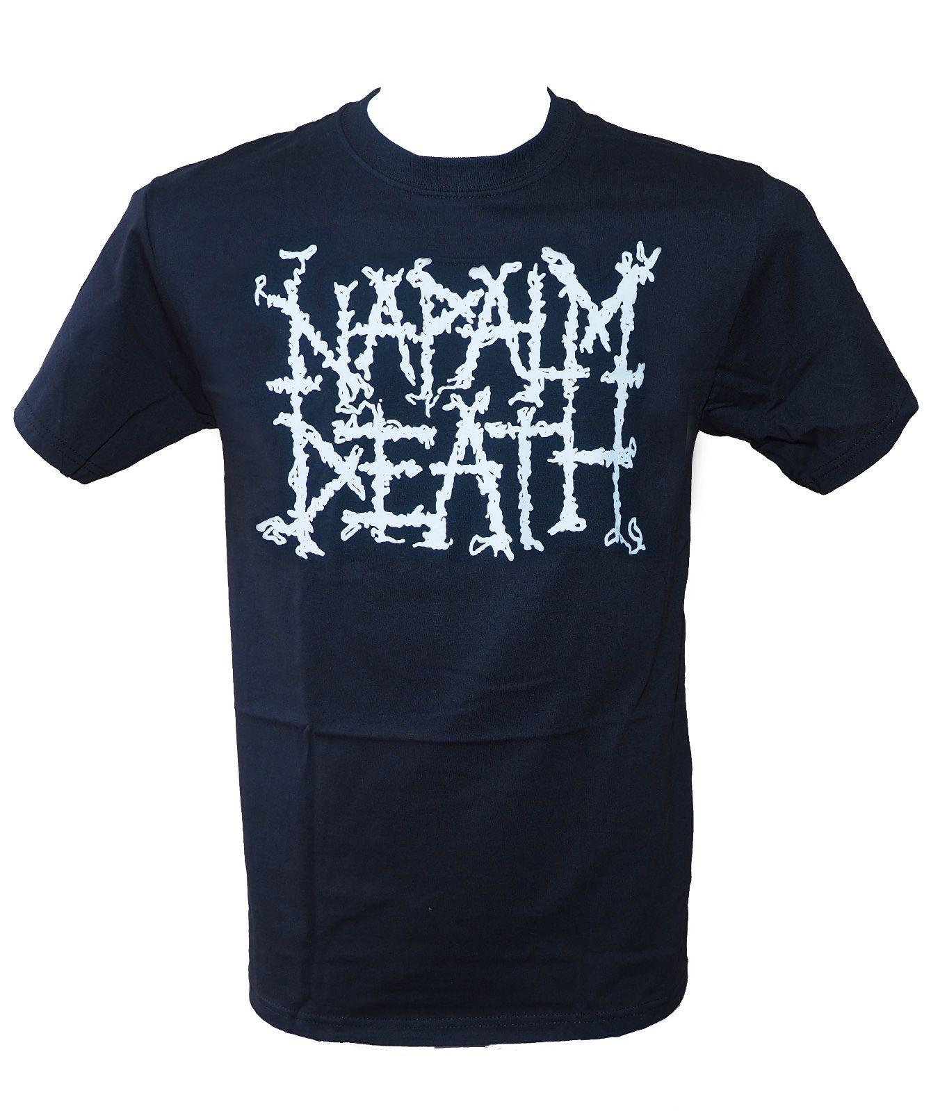 Napalm Death-Logo-Camiseta autorizada oficial-Nueva M L Xl 2 xlrecién llegada camisetas para Hombre Camisetas con niño Tops descuentos Casual
