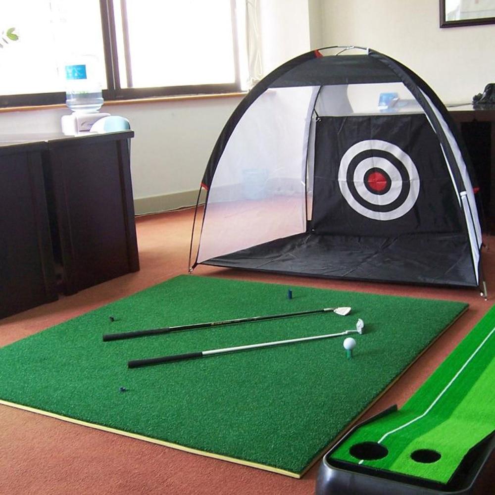 Portátil 210D tela Oxford Nylon herramienta de césped Golf práctica Red de entrenamiento de Golf deportes casa Golf Red de astillado para principiantes viaje