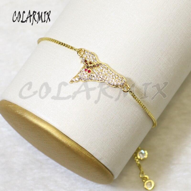10 pçs ghost charme pulseiras pulseiras de cristal pequeno charme zircão acessórios conectores pulseiras jóias para mulher 56023