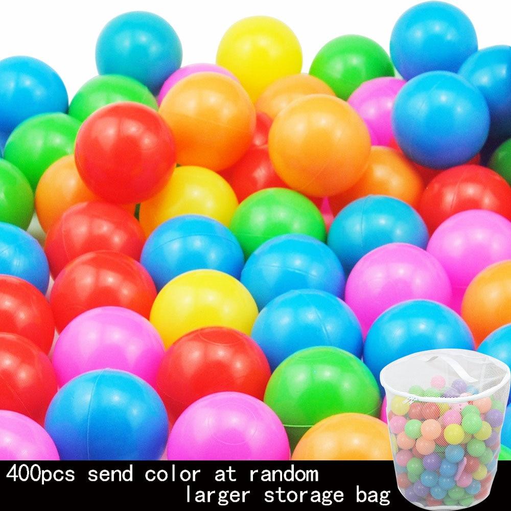 400 Pcs/Lot 5.5cm Eco-Friendly Plastic Balls Colorful Soft Kids Swim Ball Pits Toy Beach Balls Water Pool Ocean Wave Balls