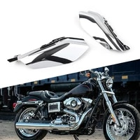 motorcycle chrome heat shield mid frame air deflector trim w bolts for harley road glide ultra fltr fltrx 2017 2018 2019 2020