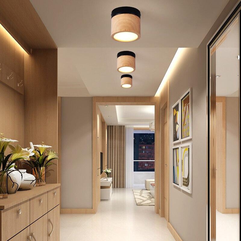 Светильник в скандинавском стиле, простой и модный светильник в виде бревен для гостиной, столовой, спальни, коридора, коридора, кухни, лампа...