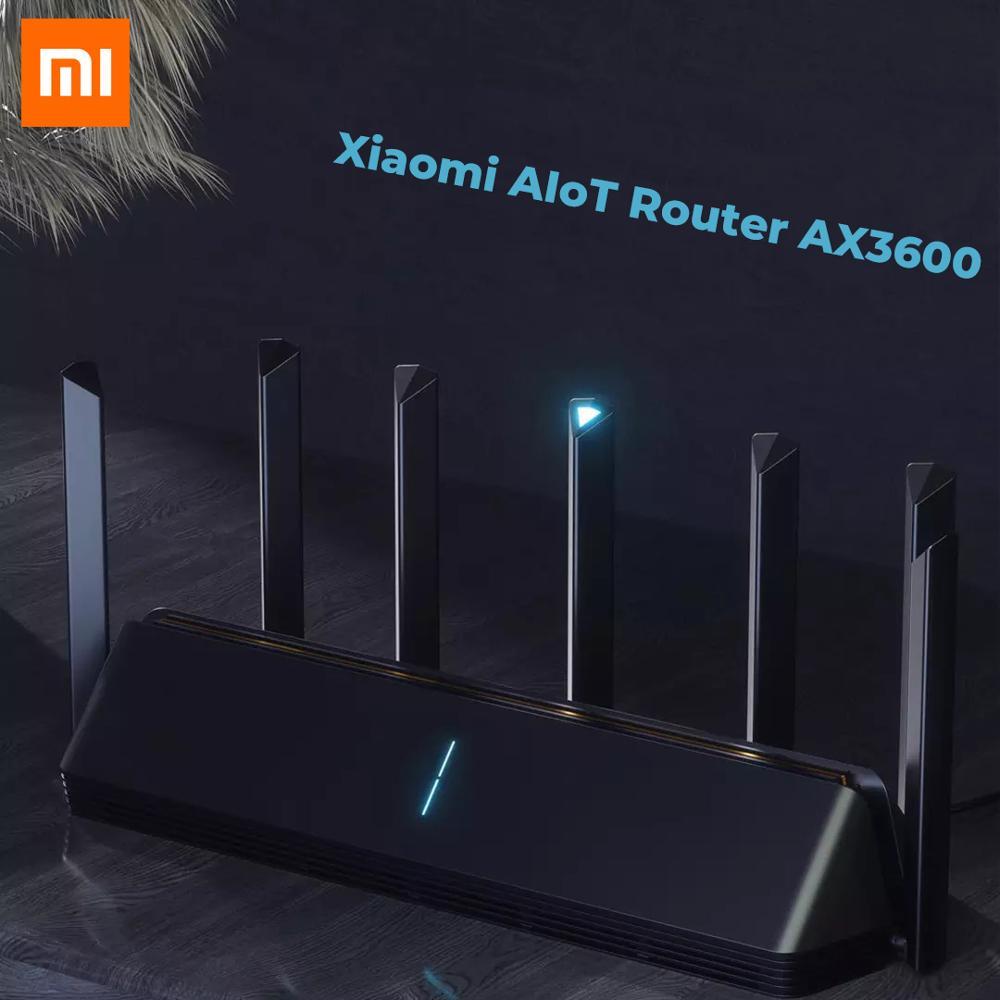 Original de Mi Xiaomi AIoT Router AX3600 Gigabit Wifi 6 5G 2,4G Wi-Fi de doble banda 2976Mbs Gigabit AIoT 512MB RAM Miwifi app