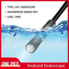 Endoscope dusb de la caméra HD type-c dendoscope de 7.0mm avec 6 LED 1/2/3.5M câble mou dur Endoscope dinspection imperméable pour Android