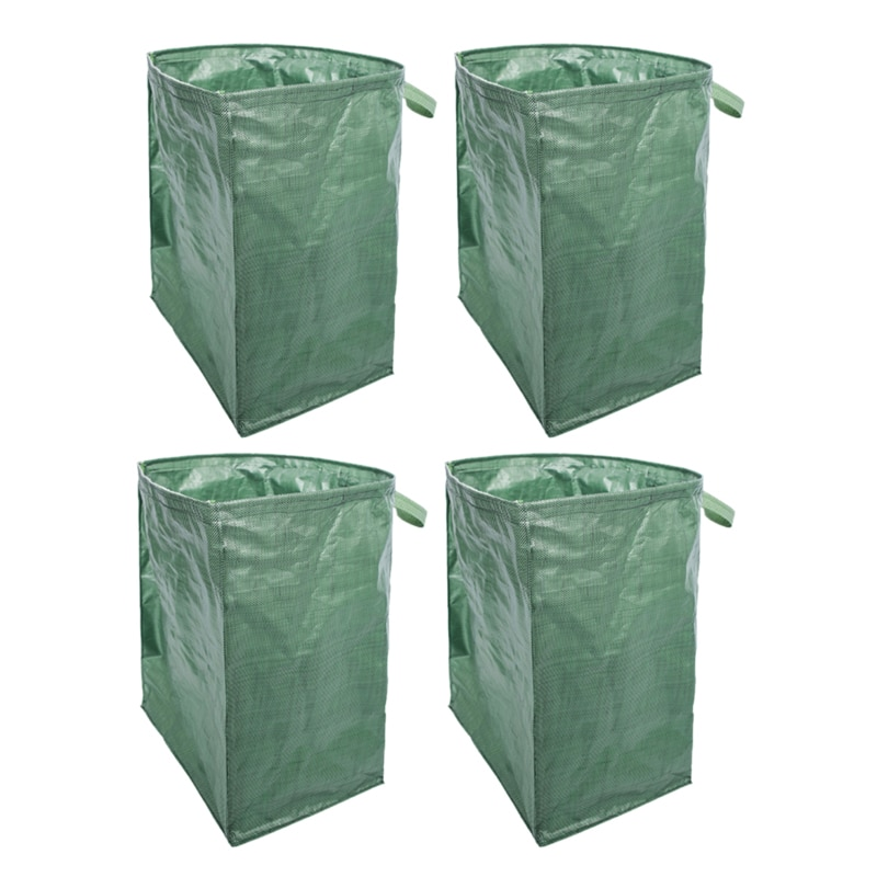 Bolso de jardín multifunción reutilizable y resistente de 4 uds, bolso de gran capacidad para jardín, bolsa de hoja caduca, bolsa de jardinería