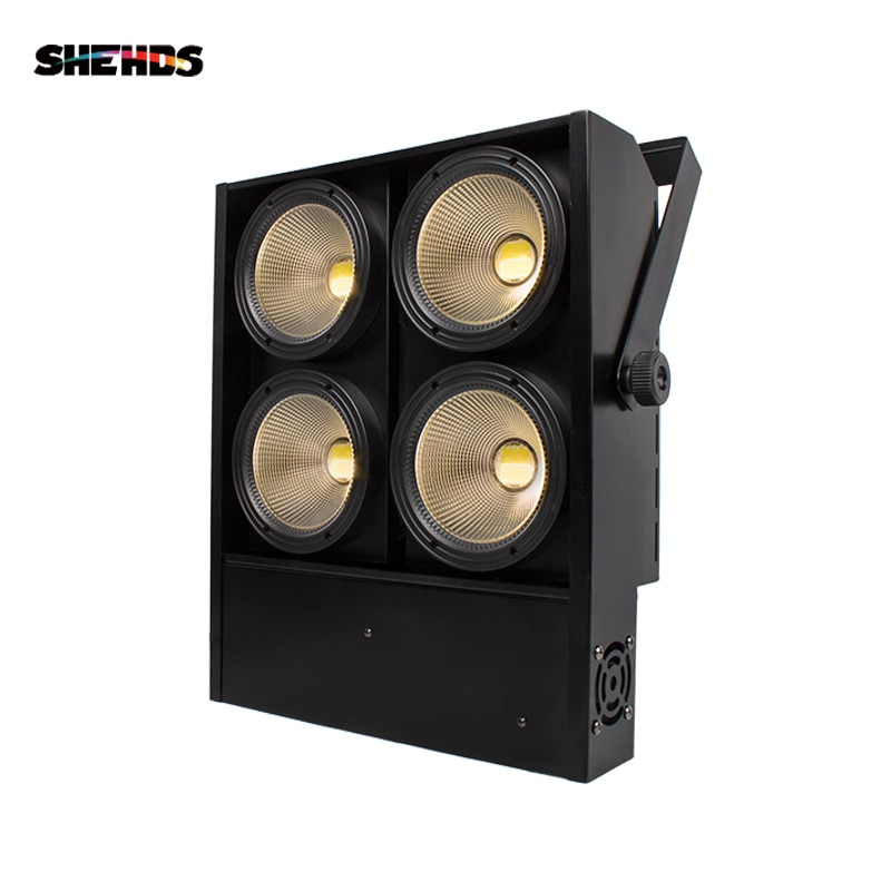 SHEHDS-مصباح LED احترافي 4x100W ، إضاءة مسرح ، طاقة عالية ، 4 عيون ، أبيض دافئ ، شريط الحفلة KTV DJDisco