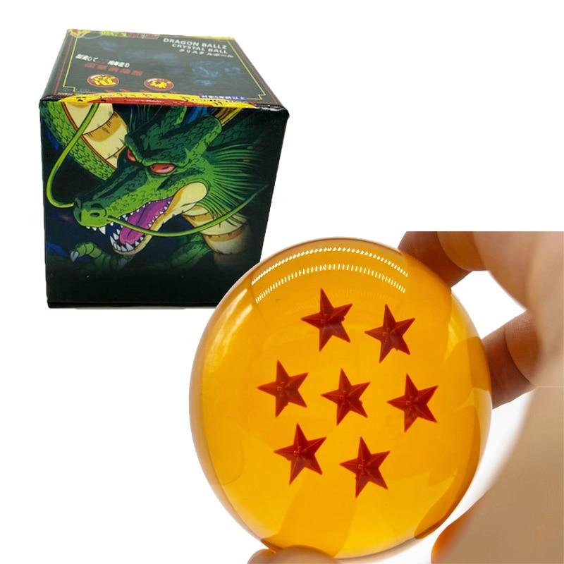7.6cm 7cm tamanho grande 1 & 2 & 3 & 4 & 5 & 6 & 7 estrela bolas de cristal z figuras de ação, brinquedos para chlidren novo na caixa