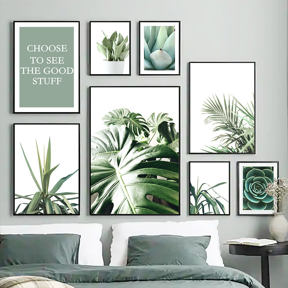 Yucca-cuadro sobre lienzo para pared, carteles nórdicos, imágenes de pared para decoración...