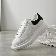 Luxury Mcqueen Shoes for Women Brand Design Alexander White Chunky Sneakers Female Vulcanize Shoes Z