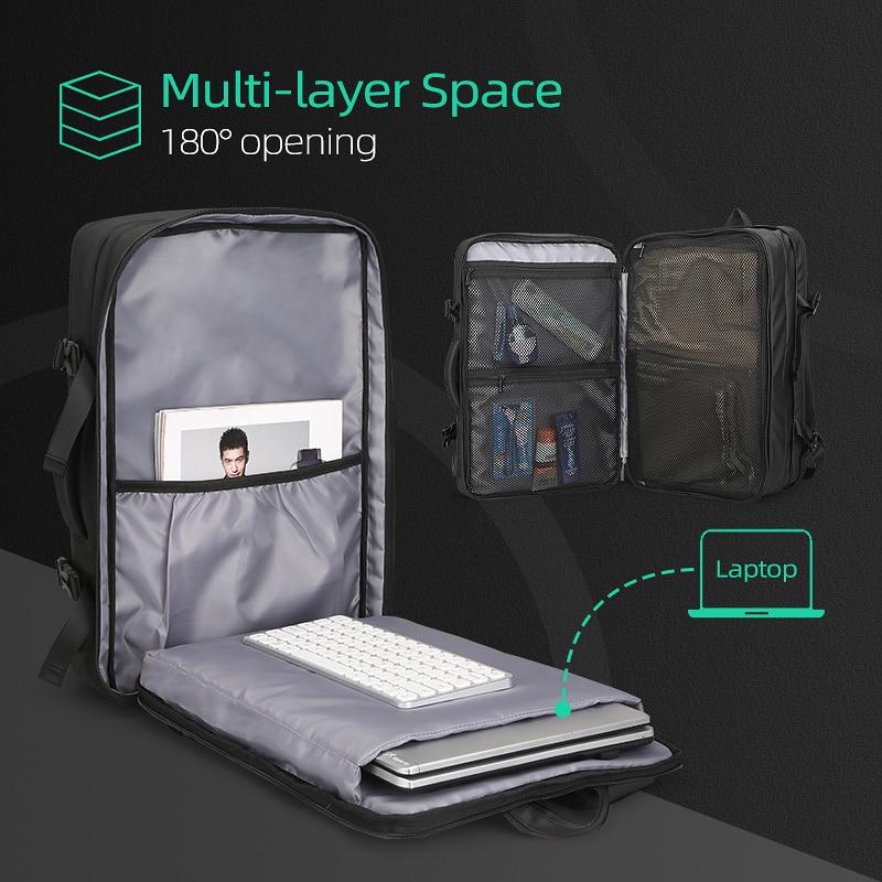 Beg galas lelaki muat beg 17 inci USB mengecas beg anti-pencurian - Beg galas - Foto 2