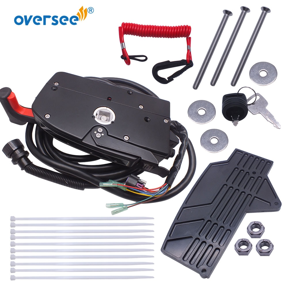 881170A13 Remote Control Box With 14 Pin 15FT Cable Side Mount For Mercury Outboard Engine enlarge