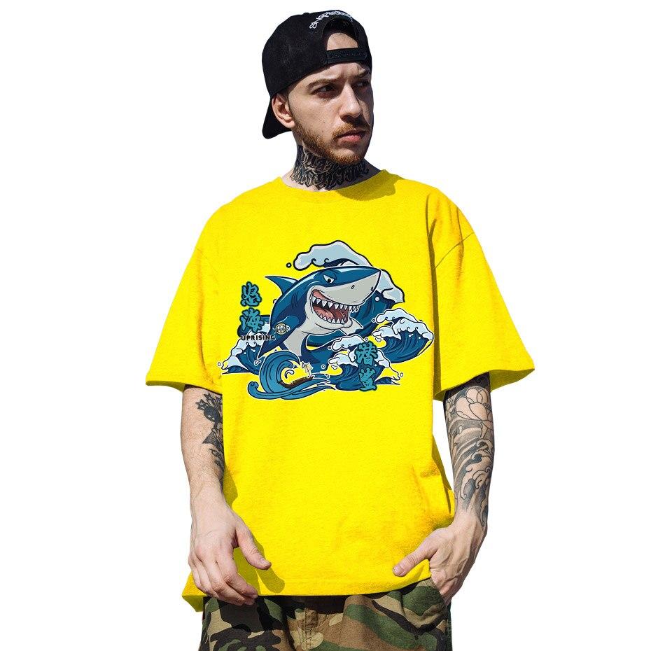 Camiseta de manga corta de sealife de Save our oceans, sharks, whles, turboes, sealife, de talla grande, para Hombre, cuello redondo, camisetas de Hip hop