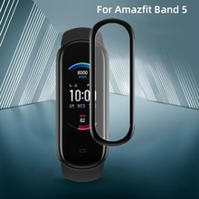 3D Soft Fibre Glass Protective Film Cover Full Curved Scratch-resistant For Huami Amazfit Band 5 Scr