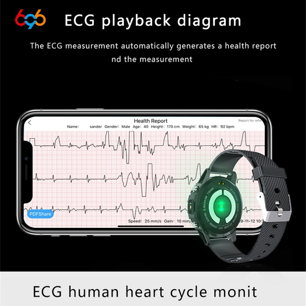 T88 Smart Watch Men Smartwatch Blood Pressure ECG+PPG Smart Watches IP68 Professional Oximeter Full Round Heart Rate Monitor