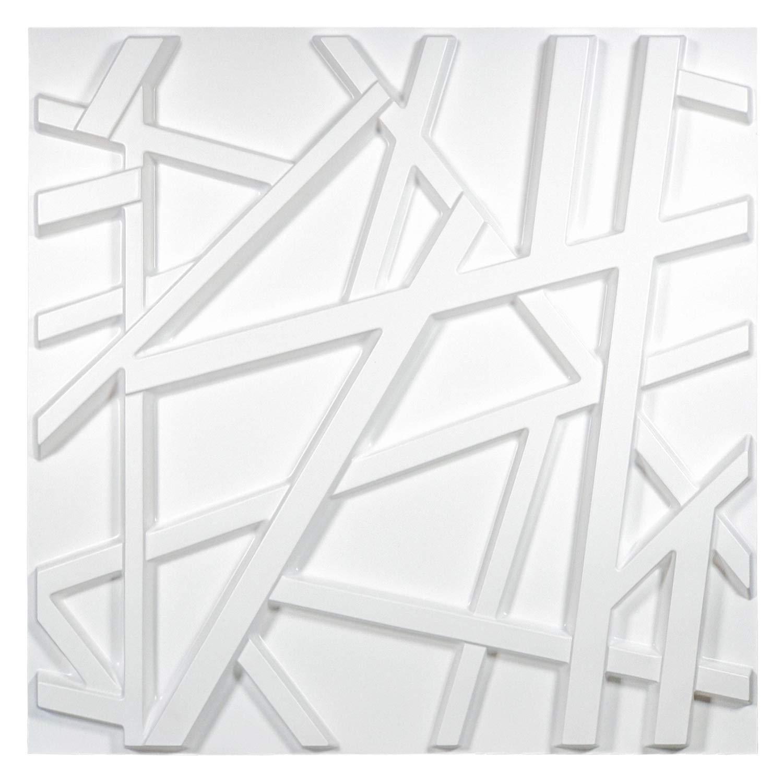 50x50 سنتيمتر ديكور المنزل بولي كلوريد الفينيل ثلاثية الأبعاد ألواح للحائط خطوط معبر هندسية ذاتية اللصق لوحات لغرفة المعيشة والمكتب (12 ورقة)