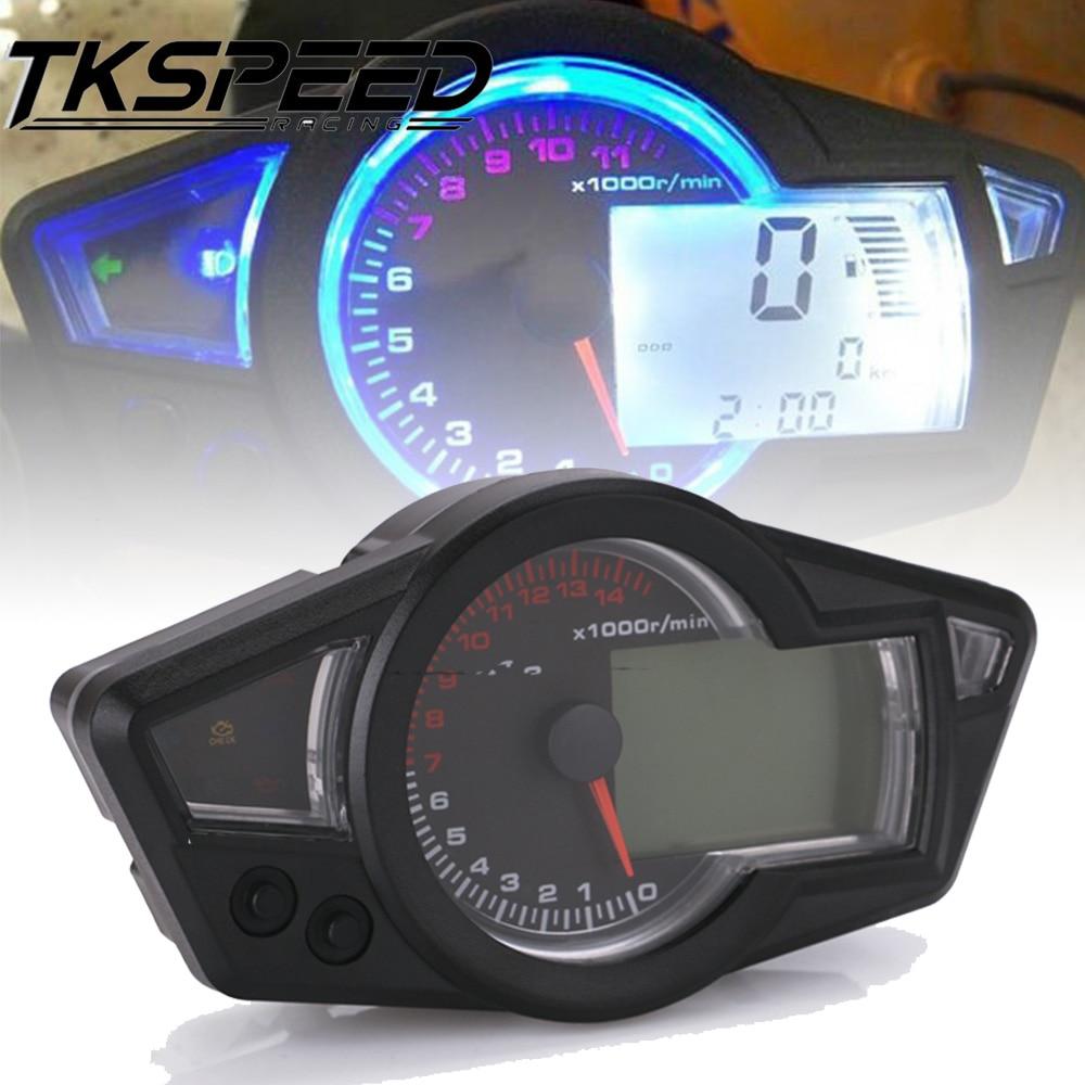Velocímetro LCD para motocicleta, velocímetro Digital para motocicleta, velocímetro para 2 y 4 cilindros